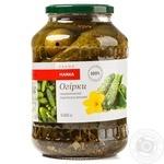 Vegetables cucumber Marka promo Private import pickled 1450g glass jar Ukraine