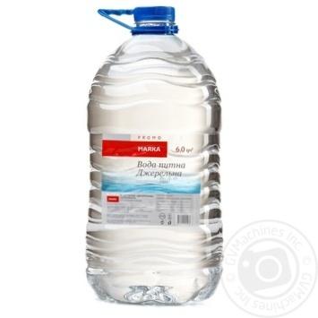 Вода питна Джерельна негазована Marka Promo 6л
