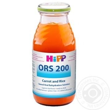 Напиток ХиПП Отвар морковно-рисовый сокосодержащий детский от 4 месяцев от диареи стеклянная бутылка 200мл