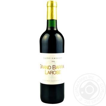 Вино Saint-Emilion Grand Barra Larose красное сухое 0,75л