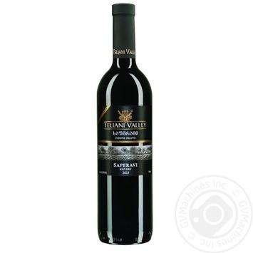 Вино Teliani Valley Сапераві червоне сухе 13% 0,75л - купити, ціни на Novus - фото 1