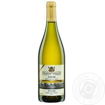 Вино Teliani Valley Твиши белое полусладкое 11,5% 0,75л