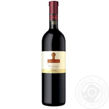 Wine saperavi Marani Private import red semidry 12.5% 750ml glass bottle Georgia