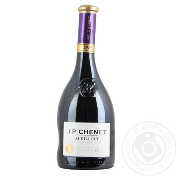 Вино J.P.CHENET Merlot красное полусухое 0.75л