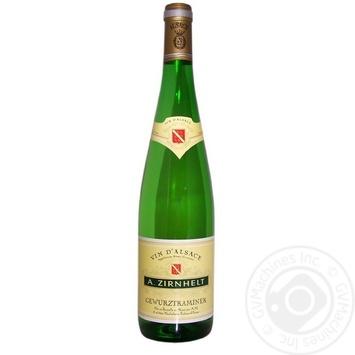 Вино A.Zirnhelt Gewürztraminer белое полусладкое 0,75л