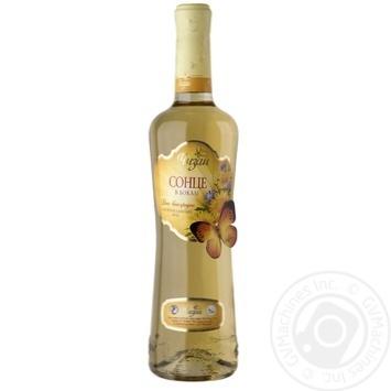 Wine Chizay Sontse v bokali white sweet 16% 1100g glass bottle Ukraine