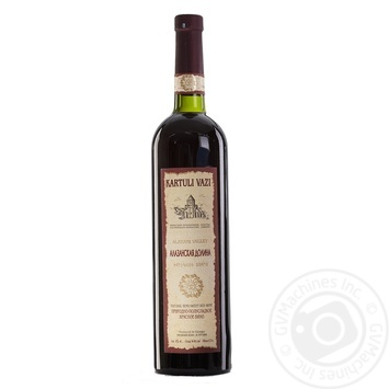 Kartuli Vazi Alazan Valley red semi-sweet wine 11% 0.75l - buy, prices for CityMarket - photo 1