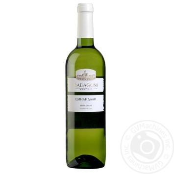 Вино Badagoni Цинандали белое сухое 0,75л