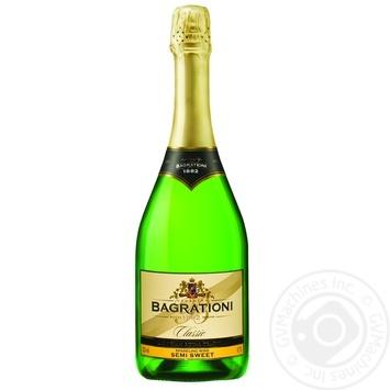 Вино ігристе Bagrationi Класичне біле напівсолодке 12% 0,75л - купити, ціни на Novus - фото 1