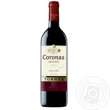 Вино Torres Coronas Tempranillo червоне сухе 13,5% 0,75л - купити, ціни на CітіМаркет - фото 1