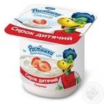 Сирок дитячий Растішка полуниця з 3-х років 3.5% 100г пластиковий стакан Україна