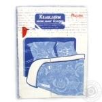 Комплект Ашан постельного белья двуспальный голубой 175x210см