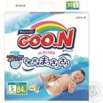 Diapers GOO.N for children from 4 to 8 kgs S-size on tapes unisex 84pcs