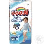 Pants-diapers GOO.N for boys from 12 to 20 kgs Big XL size 38pcs