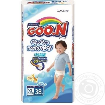 Трусики-подгузники GOO.N для мальчиков 12-20кг размер Big XL 38шт