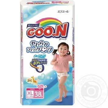 Трусики-подгузники GOO.N для девочек 12-20кг размер Big XL 38шт - купить, цены на Novus - фото 1