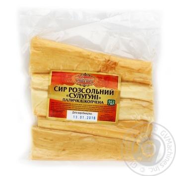 Сыр Молочная Империя Сулугуни рассольный палочка копченная - купить, цены на Ашан - фото 2