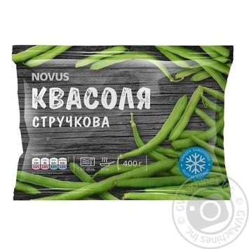 Vegetables green been Novus frozen 400g - buy, prices for Novus - image 1