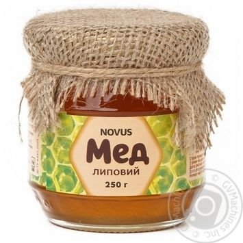 Мед Novus липовый натуральный 250г - купить, цены на Novus - фото 1