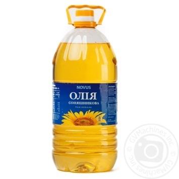 Олія соняшникова Novus рафінована дезодорована виморожена марки П 3л - купити, ціни на Novus - фото 1