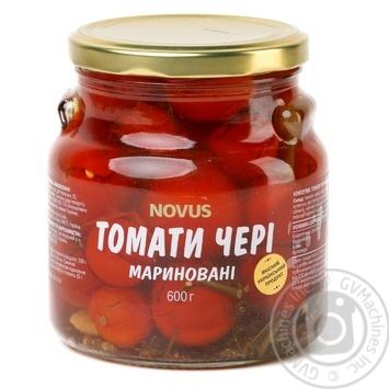 Vegetables tomato cherry tomatoes Novus pickled 600g glass jar - buy, prices for Novus - image 1