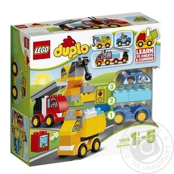 Скидка на Конструктор LEGO DUPLO My First Мои первые машинки 10816