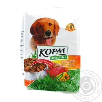 Корм для собак Повна Чаша мясной с овощами сухой 3кг