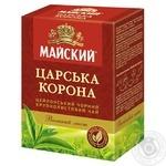Чай черный Майский Царская Корона цейлонский байховый крупнолистовой 50г
