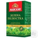 Чай зеленый Майский Зеленый Лепесток байховый крупнолистовой 90г