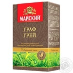 Black pekoe tea Maysky Earl Grey with bergamot flavor medium leaf 90g