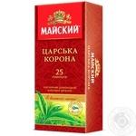 Чай черный Майский Царская Корона цейлонский классический байховый в пакетиках 25х2г
