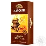 Чай черный Майский тоффи-шоколад байховый ароматизированный в пакетиках 25х1.8г