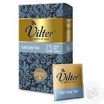 Чай черный цейлонский байховый VILTER Эрл Грей  в пакетиках 25х2г - купить, цены на Novus - фото 1