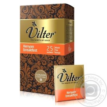Чай черный VILTER Kenyan breakfast в пакетиках 25х2г