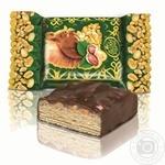 Цукерки Чарівне більчатко з арахісом вафельні глазуровані кондитерськоюглазур'ю Лісова казка кг