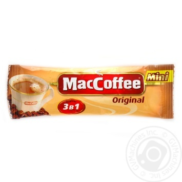 Instant coffee drink with sugar and sweetener MacCofee Original 3in1 Mini stick sachet 12g - buy, prices for Auchan - photo 1