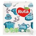 Серветки Ruta Double Luxe Кухоннi Мотиви 40л 30