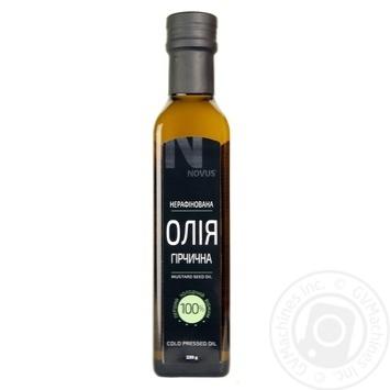 Масло из семян горчицы Novus нерафинированное 230г - купить, цены на Novus - фото 1