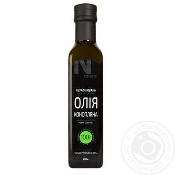 Масло из семян конопли Novus нерафинированное 230г - купить, цены на Novus - фото 1