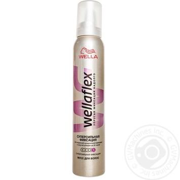 Мусс для волос WELLAFLEX Суперсильная фиксация 200мл - купить, цены на Метро - фото 1