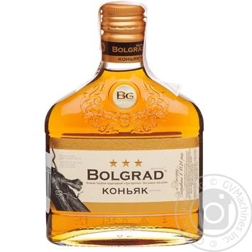 Коньяк Bolgrad ординарный 3 звезды 40% 0,25л - купить, цены на Фуршет - фото 1