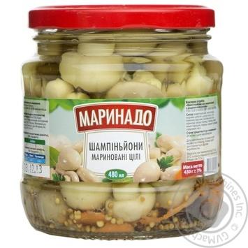 Шампиньоны маринованные целые Маринадо 480мл - купить, цены на Novus - фото 1