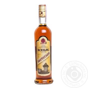 Коньяк Тиса Закарпатський 4 зірки 40% 0,5л - купити, ціни на CітіМаркет - фото 3