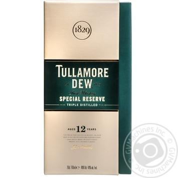 Віскі Tullamore Dew  Special Reserve 12 років 40% 0,7л - купити, ціни на МегаМаркет - фото 1