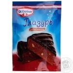 Глазурь Dr.Oekter кондитерская темный шоколад 100г