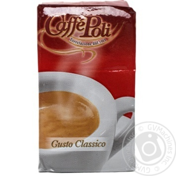 Roasted ground coffee Caffe Poli Gusto Classico for espresso machines 250g Italy - buy, prices for MegaMarket - image 1