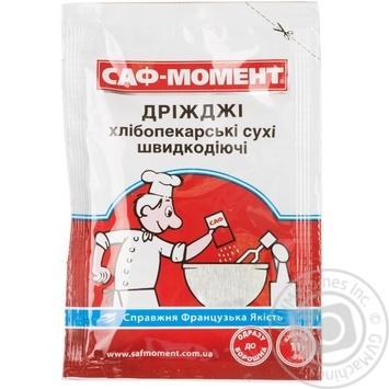 Дріжджі Саф-Момент сухі хлібопекарські 11г - купити, ціни на МегаМаркет - фото 1