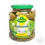 Vegetables cucumber cornichon Kuhne Piquant canned 330g glass jar