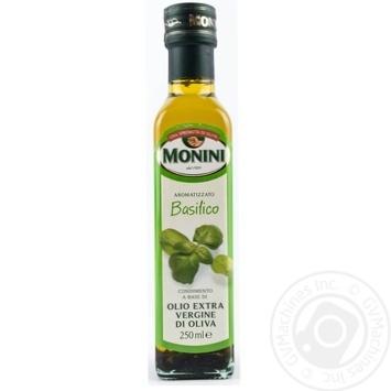Масло Монини оливковое экстра вирджин первого холодного отжима с базиликом 250мл