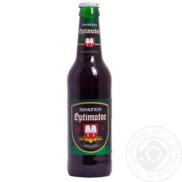 Пиво Шпатен Оптиматор темное пастеризованное 7.7%об. стеклянная бутылка 355мл Германия